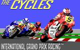 The Cycles: International Grand Prix Racing DOS Title Screen (EGA)