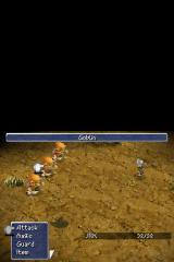 Final Fantasy III Nintendo DS First battle