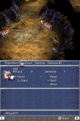 Final Fantasy III Nintendo DS Equipment