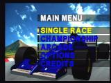 World Tour Racing Jaguar Main Menu