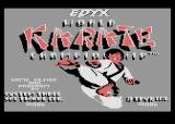 World Karate Championship Atari 8-bit Title Screen