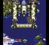 1941: Counter Attack SuperGrafx Fighting the first boss.
