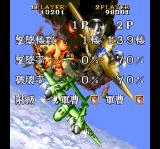 1941: Counter Attack SuperGrafx The aftermath screen, two players mode.