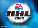 NHL 2004 Windows Title screen