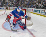 NHL 2004 Windows Goalie fails to stop the puck.