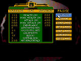 Supreme Warrior DOS The pause screen - it shows some fight statistics