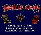 Battle Cars SNES Here's the snazzy title screen... stop gawking at the cars and press start!