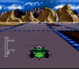 Battle Cars SNES Some tracks even feature dangerous intersections -- Oh, the horror!