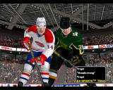 NHL 2003 Windows One Dallas player and one Montreal player ready for face off.