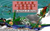 Their Finest Hour: The Battle of Britain DOS Title screen (EGA)