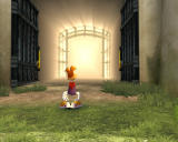 Rayman Raving Rabbids Windows The big gate doors are open