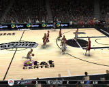 NBA Live 08 Windows Player closes the basket.