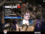 NBA Live 08 Windows Maine menu