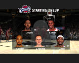 NBA Live 08 Windows Cleveland Cavaliers starting lineup