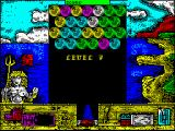 Cannon Bubble ZX Spectrum Level 7 - with a new background picture.
