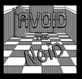 Avoid the Noid DOS Title screen (Hercules Monochrome)