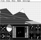 Sierra's 3-D Helicopter Simulator DOS Just flying around... - Hercules Monochrome