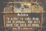 Oddworld: Munch's Oddysee Game Boy Advance Tutorial menu like this one can be accessed to get helpful tips.