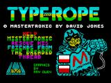 Type-Rope ZX Spectrum Title screen