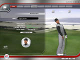 Tiger Woods PGA Tour 07 Windows Game face mode. Tiger checking his back.