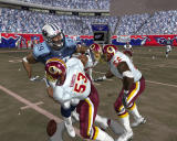 Madden NFL 2005 Windows A player get hit by three opponents.