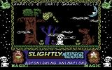 Slightly Magic Commodore 64 Title screen. Right from the beginning you can see that c64 Slightly Magic is a Spectrum port.