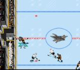 NHL '94 SNES In true Broadstreet Bully fashion, players can be checked over the boards if they stray too close to the benches.