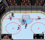 NHL '94 SNES The game's not all flashy goals and spectacular hits... the goalies get a chance to shine too. Terrific save!