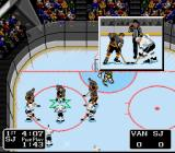 "NHL '94 SNES A neat little easter egg for the hardcore hockey fans - get the San Jose Sharks on the power play in their own building and Jaws music will start playing while the fans do ""The Chomp""."
