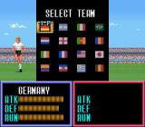 Super Soccer SNES Chose your team, Germany and Argentina have the best stats.