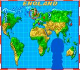 Soccer Kid SNES The map shows your next destination - there are 5 countries with 3 levels each.