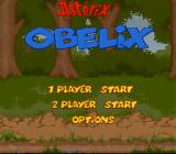 Astérix & Obélix SNES Main menu - you can play as Asterix or Obelix.