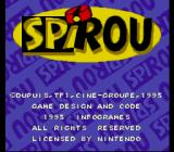 Spirou SNES Copyright notice