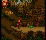 Spirou SNES Wild creatures want to stop you.