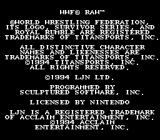 WWF Raw SNES Copyright notice