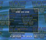 WWF Raw SNES There are a lot of game modes to choose from.