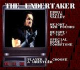 WWF Raw SNES Player selection: do you want to choose The Undertaker?