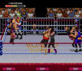 WWF Raw SNES There is a lot of action during the Royal Rumble.