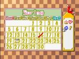 Harvest Moon 64 Nintendo 64 The calendar where you can keep track of events