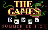 The Games: Summer Edition DOS Title Screen