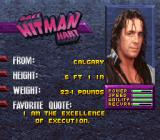 WWF WrestleMania SNES Each wrestler has his portrait on file.
