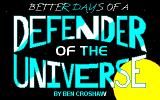 Rob Blanc I: Better Days of a Defender of the Universe Windows Title screen
