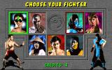 Mortal Kombat DOS Choose your character