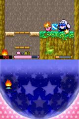 Kirby: Squeak Squad Nintendo DS Fighting a mini-boss