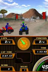 ATV Quad Frenzy Nintendo DS If you were expecting a countdown, you'd be in for a rude awakening. The race begins even before the screen is done fading in.
