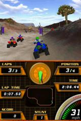 ATV Quad Frenzy Nintendo DS Racing through the desert environment.