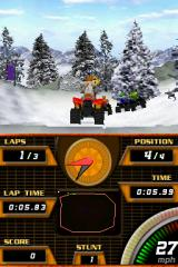 ATV Quad Frenzy Nintendo DS Racing in the snowy mountains.