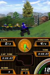ATV Quad Frenzy Nintendo DS Racing on one of the lake tracks.