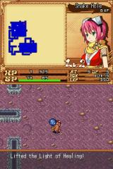 Izuna: Legend of the Unemployed Ninja Nintendo DS Using a heal item.