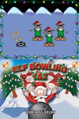 Elf Bowling 1&2 Nintendo DS The unspeakably ugly title screen